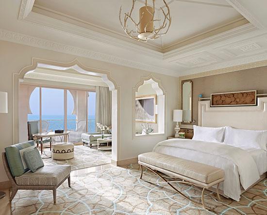 Waldorf Astoria Ras Al Khaimah hotel, VAE - Junior Suite mit King-Size-Bett, Balkon und Ausblick
